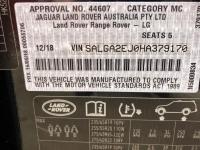 2018 Range Rover Vogue SDV8 Auto MY18