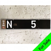 Number Plate N 5 For Sale