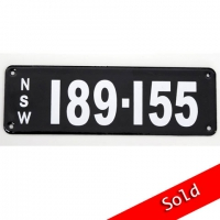 NSW Number Plate 189 155