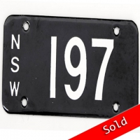 NSW Number Plate 197
