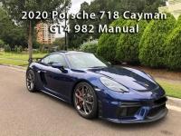 2020 Porsche 718 Cayman GT4 982 Manual