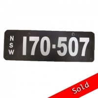 NSW Number Plate 170 507