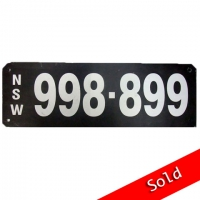 NSW Number Plate 998 899