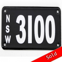 Number Plate 3100