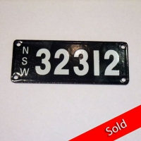 Number Plate 32312