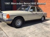 1981 Mercedes-Benz 280E Manual