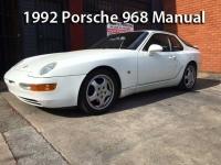 1992 Porsche 968 Manual